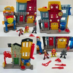 FISHER PRICE IMAGINEXT LOT Rescue City Center Fire